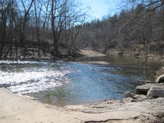 Harmon Low Water Bridge Access Point